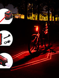 cheap -Rear Bike Light / Tail Light Laser / LED Bike Light Cycling Waterproof, Portable, Adjustable 150 lm Rechargeable Battery Red Camping / Hiking / Caving