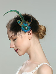 cheap -Feathers Fascinators with Feather 1pc Wedding / Special Occasion Headpiece