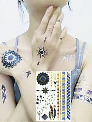 Недорогие -3 pcs Временные татуировки Тату с цветами / Мультипликационные серии Экологичные / Новый дизайн Искусство тела Лицо / Корпус / рука / Временные татуировки в стиле деколь