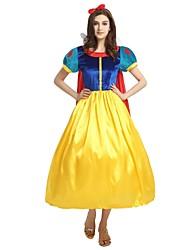 billige -Prinsesse Dragter Dame Halloween / Karneval / Barnets Dag Festival / Højtider Halloween Kostumer Gul Ensfarvet / Halloween Halloween