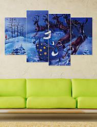 economico -Adesivi decorativi da parete - Adesivi 3D da parete / Holiday Wall Stickers Natale / Floreale / Botanical Stanza per bambini / Camera dei bambini