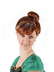 Недорогие -Парики из искусственных волос / Маскарадные парики Прямой Стрижка боб Искусственные волосы 16 дюймовый Аниме / Косплей / Женский Коричневый Парик Жен. Средняя длина Машинное плетение