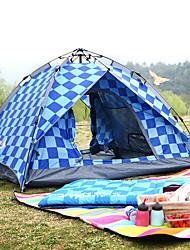 Недорогие -BSwolf 3 человека Семейный кемпинг-палатка На открытом воздухе С защитой от ветра, Дожденепроницаемый, Воздухопроницаемость Двухслойные зонты Автоматический Палатка 2000-3000 mm для