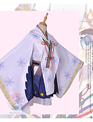 cheap -Inspired by Vocaloid Snow Miku 2018 Anime Cosplay Costumes Cosplay Suits Snowflake Skirts / Coat / Top For Women's Halloween Costumes