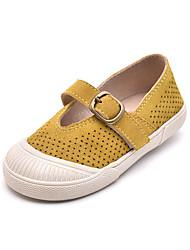 povoljno -Djevojčice Cipele Brušena koža Ljeto Udobne cipele Ravne cipele Mat selotejp za Djeca Bijela / Zelen / Color block