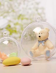 Недорогие -5pcs 6cm рождество tress украшения мяч прозрачный открытый пластиковый прозрачный bauble украшение подарок подарок коробка украшения