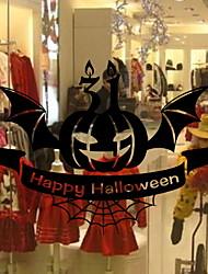Недорогие -Оконная пленка и наклейки Украшение Хэллоуин Простой / Праздник ПВХ Стикер на окна / Cool