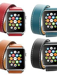baratos -Pulseiras de Relógio para Apple Watch Series 4/3/2/1 Apple Pulseira de Couro Couro / Couro Legitimo Tira de Pulso