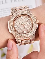 Недорогие -Муж. Часы-браслет Наручные часы Кварцевый вымостить Серебристый металл / Золотистый / Розовое золото Календарь Творчество Светящийся Аналоговый Роскошь Блестящие Bling Bling маскарадный - / Один год