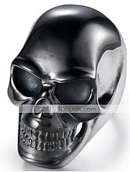 cheap -Men's Vintage Style 3D Band Ring - Titanium Steel Skull Vintage, Punk 9 / 10 Black For Halloween Daily Street