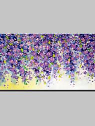 Недорогие -Hang-роспись маслом Ручная роспись - Абстракция Цветочные мотивы / ботанический Modern Включите внутренний каркас / Растянутый холст