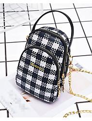 cheap -Women's Bags PU(Polyurethane) Mobile Phone Bag Pattern / Print Geometric Black / Red / Brown