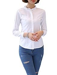 Недорогие -Жен. Аппликация Рубашка Деловые Однотонный