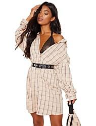 billige -Dame - Ruder Boheme Skjorte