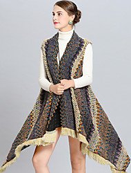 cheap -Sleeveless Orlon / Knit Wedding / Party / Evening Women's Wrap With Tassel / Color Block Capes