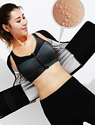 cheap -Women's Sexy 3pcs Yoga Suit - Black Sports Solid Color High Rise Tights / Leggings / Bra Top Yoga, Running, Fitness Activewear Weight Loss, Tummy Fat Burner, Hot Sweat High Elasticity Slim