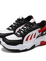 abordables -Homme Sneakers Clunky Maille / Polyuréthane Automne Sportif / Décontracté Chaussures d'Athlétisme Course à Pied / Marche Respirable Noir / Rouge / Noir / Jaune
