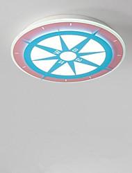 baratos -Circular Montagem do Fluxo Luz Ambiente Acabamentos Pintados Metal 220-240V Branco quente + branco Fonte de luz LED incluída / Led Integrado