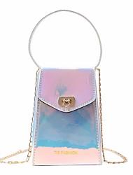 abordables -Femme Sacs PU Mobile Bag Phone Boutons Bleu / Argent