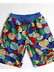 tanie Odzież kąpielowa męska-Męskie Podstawowy Niebieski Kąpielówki Doły Stroje kąpielowe - Geometric Shape L XL XXL / Seksowny