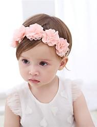 Недорогие -Дети (1-4 лет) Девочки Активный Однотонный / Цветочный принт Шифон Аксессуары для волос Розовый Один размер