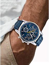 Недорогие -Муж. Спортивные часы Наручные часы Кварцевый Черный / Белый / Синий Секундомер Творчество Повседневные часы Аналоговый Роскошь Мода - Коричневый Синий Черный / Белый Один год Срок службы батареи