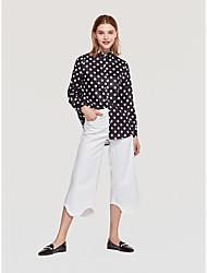 billige -Kvinder slank bluse - Polka dot shirt krave