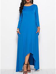 Недорогие -Жен. С летящей юбкой Платье - Однотонный Макси