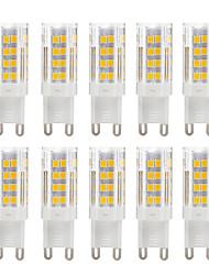 billiga -ywxlight® 10pcs g9 5w 51led varm vit cool vit ledd majsljus 2835 keramik ljuslampa för kristall ljuskrona belysning ac 220-240v