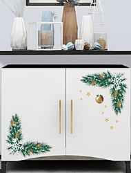 Недорогие -Наклейки для туалета - Праздник стены стикеры Рождество / Цветочные мотивы / ботанический Гостиная / Спальня / Ванная комната