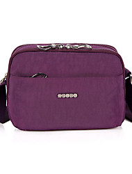 cheap -Women's Bags Nylon Shoulder Bag Zipper Dark Blue / Purple / Fuchsia