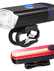 cheap -Front Bike Light / Rear Bike Light / Safety Light LED Bike Light XP-G2 Cycling Waterproof, Portable, Quick Release Li-polymer 350 lm Built-in Li-Battery Powered Daylight / Red Camping / Hiking