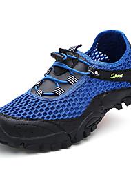 Недорогие -Муж. Комфортная обувь Сетка Осень На каждый день Спортивная обувь Для прогулок Нескользкий Контрастных цветов Темно-синий / Серый / Хаки