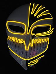 Недорогие -brelong Хэллоуин ужас смерть черный рыцарь холодный свет светящаяся маска 1 шт.