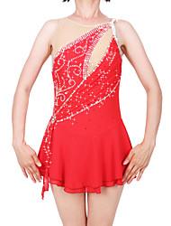 cheap -Figure Skating Dress Women's / Girls' Ice Skating Dress Red Spandex High Elasticity Professional Skating Wear Fashion Sleeveless Ice Skating / Winter Sports / Figure Skating