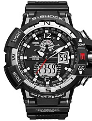 Недорогие -SMAEL Муж. Спортивные часы электронные часы Японский Японский кварц 50 m Защита от влаги Календарь Секундомер PU Группа Аналого-цифровые На каждый день Мода Черный -
