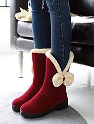 Недорогие -Девочки Обувь Искусственная кожа Зима Армейские ботинки Ботинки для Дети Черный / Верблюжий / Винный / Сапоги до колена