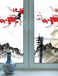 Недорогие -Оконная пленка и наклейки Украшение Художественные / Ретро / Классика Цветочный принт ПВХ Новый дизайн / Cool