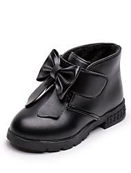Недорогие -Девочки Обувь Полиуретан Наступила зима Ботинки для Дети Черный / Винный / Темно-красный / Резина