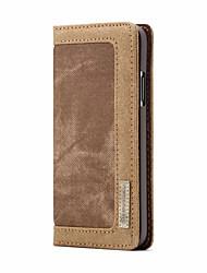 Недорогие -CaseMe Кейс для Назначение Apple iPhone X Кошелек / Бумажник для карт / Флип Чехол Однотонный Твердый текстильный для iPhone X / iPhone 8 Pluss / iPhone 8