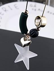 Недорогие -Жен. Классический Стильные длинное ожерелье - Сердце, Звезда Простой, европейский, Милая Белый 70 cm Ожерелье Бижутерия 1шт Назначение Повседневные