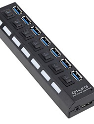 Недорогие -7 USB-концентратор Стандарт Австралии / Стандарт США USB 3.0 Высокая скорость / С коммутатором (а) Центр данных