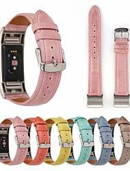 abordables -Bracelet de Montre  pour Fitbit Charge 2 Fitbit Bracelet en Cuir Vrai Cuir Sangle de Poignet