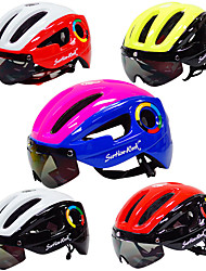 Недорогие -Взрослые Мотоциклетный шлем 10 Вентиляционные клапаны прибыль на акцию, ПК Виды спорта Велосипедный спорт / Велоспорт - Пурпурный / Red and White / Черный / красный Универсальные