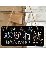 cheap -1PC Hanging Small Blackboard Mini Shop Tag Board Creative Hang House Mood