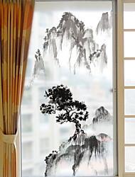 Недорогие -Оконная пленка и наклейки Украшение Шинуазери (китайский стиль) Классика ПВХ Стикер на окна