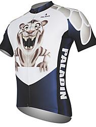 Недорогие -ILPALADINO Муж. С короткими рукавами Велокофты - Черный / Белый Животное Tiger Велоспорт Джерси Верхняя часть Дышащий Быстровысыхающий Ультрафиолетовая устойчивость Виды спорта 100% полиэстер