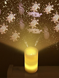 Недорогие -1pc беспламенные свечи привели световой проектор с пультом дистанционного управления свадебный рождественский ночной проектор для детей взрослые гостиная спальня украшения