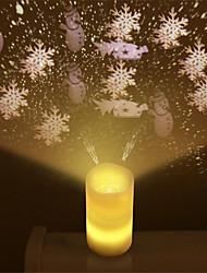 billige Originale lamper-1pc flameless stearinlys ledet lys lys projektor med fjernkontroll party bryllup jule natt lys projektor for barn voksne stue soverom dekorasjon