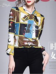 cheap -women's shirt - plaid standing collar